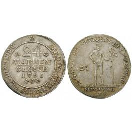 Braunschweig, Braunschweig-Wolfenbüttel, Karl Wilhelm Ferdinand, 24 Mariengroschen 1785, ss-vz/vz