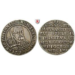 Sachsen, Albertinische Linie, Johann Georg I., 1/4 Taler 1656, ss
