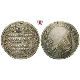 Sachsen, Albertinische Linie, Johann Georg III., 1/3 Taler 1691, ss+
