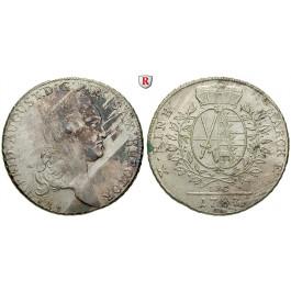 Sachsen, Albertinische Linie, Friedrich August III., Konventionstaler 1787, vz
