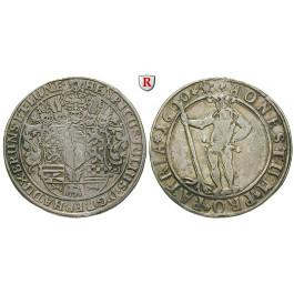 Braunschweig, Braunschweig-Wolfenbüttel, Heinrich Julius, 1/2 Taler 1600, ss