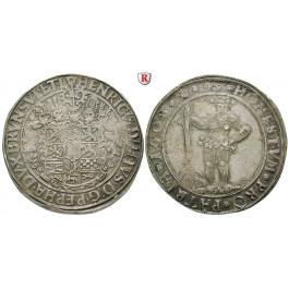 Braunschweig, Braunschweig-Wolfenbüttel, Heinrich Julius, Reichstaler 1608, vz