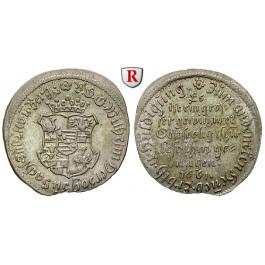 Sachsen, Sachsen-Weimar, Wilhelm, Groschen 1661, vz