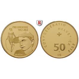 Schweiz, Eidgenossenschaft, 50 Franken 2012, 10,16 g fein, PP