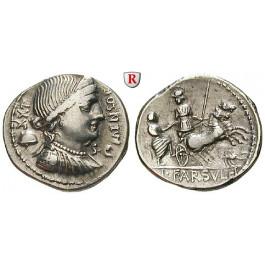 Römische Republik, L. Farsuleius Mensor, Denar 75 v.Chr., ss-vz