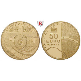 Frankreich, V. Republik, 50 Euro 2016, 7,77 g fein, PP