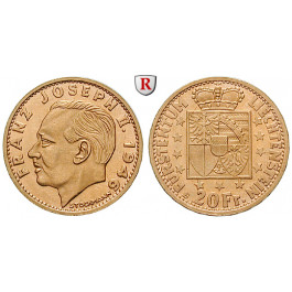 Liechtenstein, Franz Josef II., 20 Franken 1946, 5,81 g fein, vz+
