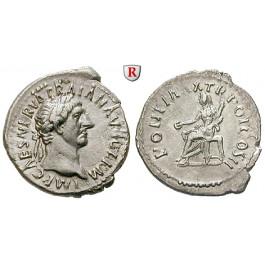 Römische Kaiserzeit, Traianus, Denar 98-99, vz