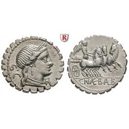 Römische Republik, C.Naevius Balbus, Denar, serratus 79 v.Chr., vz
