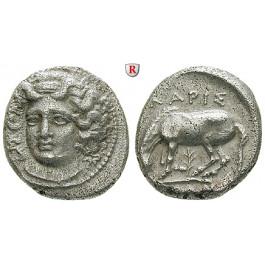 Thessalien, Larissa, Drachme um 350 v.Chr., ss+