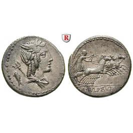 Römische Republik, L. Iulius Bursio, Denar 85 v.Chr., vz+