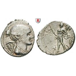 Römische Republik, L. Valerius Flaccus, Denar 108/107 v.Chr., ss+