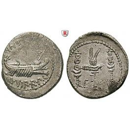 Römische Republik, Marcus Antonius, Denar 32-31 v.Chr., f.vz