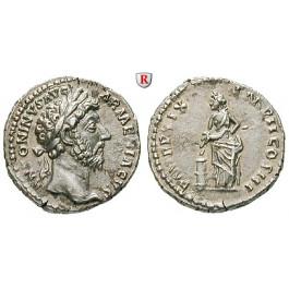 Römische Kaiserzeit, Marcus Aurelius, Denar 164-165, st