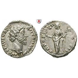 Römische Kaiserzeit, Marcus Aurelius, Caesar, Denar 157-158, st