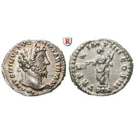 Römische Kaiserzeit, Marcus Aurelius, Denar 166, vz-st