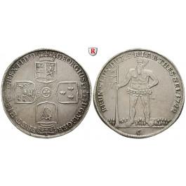 Braunschweig, Braunschweig-Calenberg-Hannover, Georg I. Ludwig, Reichstaler 1722, f.vz