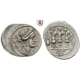Römische Republik, Faustus Cornelius Sulla, Denar, f.vz