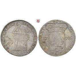 Niederlande, Zeeland, Silberdukat 1775, ss