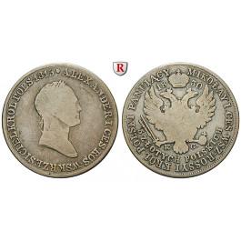 Polen, Nikolaus I. von Russland, 5 Zlotych 1830, s