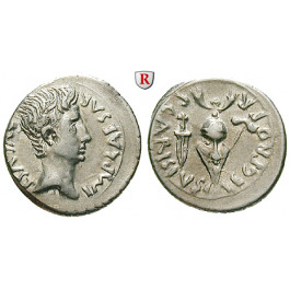Römische Kaiserzeit, Augustus, Denar 25-23 v.Chr., ss-vz/ss+