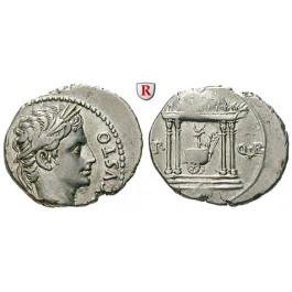 Römische Kaiserzeit, Augustus, Denar 18 v.Chr., ss-vz