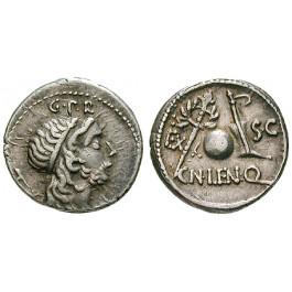 Römische Republik, Cn. Cornelius Lentulus, Denar 76-75 v.Chr., ss+
