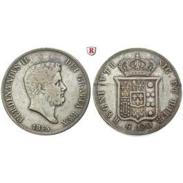 Italien, Königreich beider Sizilien, Ferdinando II., Piastra (120 Grana) 1845, ss
