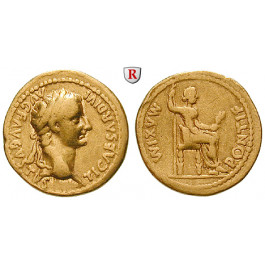 Römische Kaiserzeit, Tiberius, Aureus 14-37, ss+