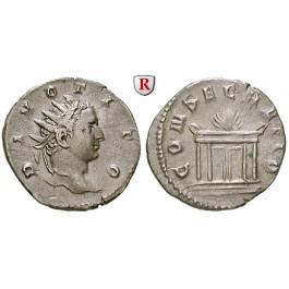 Römische Kaiserzeit, Titus, Antoninian 250-251 unter Trajanus Decius (249-251), ss-vz
