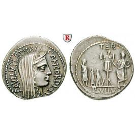 Römische Republik, L. Aemilius Lepidus Paullus, Denar 62 v.Chr., ss-vz