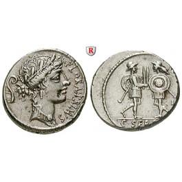 Römische Republik, C. Servilius, Denar 57 v.Chr., vz