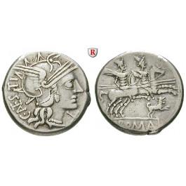 Römische Republik, C. Antestius, Denar, ss+