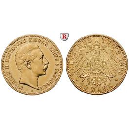 Deutsches Kaiserreich, Preussen, Wilhelm II., 10 Mark 1893, A, ss+, J. 251