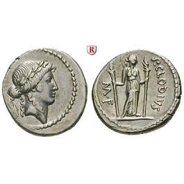 Römische Republik, P. Clodius, Denar 42 v.Chr., f.vz
