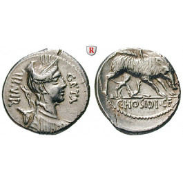 Römische Republik, C. Hosidius Geta, Denar 68 v.Chr., ss-vz