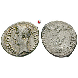 Römische Kaiserzeit, Augustus, Denar 25-23 v.Chr., ss-vz