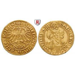 Nürnberg, Stadt, Goldgulden 1522, ss+