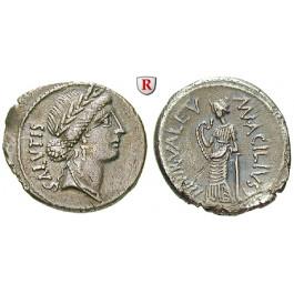 Römische Republik, Man. Acilius Glabrio, Denar 49 v.Chr., ss-vz