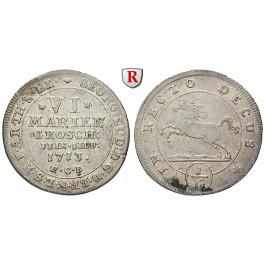 Braunschweig, Braunschweig-Calenberg-Hannover, Georg I. Ludwig, 6 Mariengroschen 1713, ss+