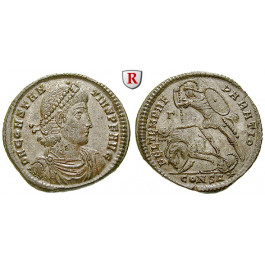 Römische Kaiserzeit, Constantius II., Bronze 348-351, vz-st