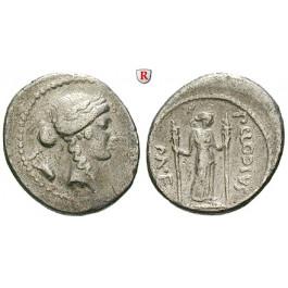 Römische Republik, P. Clodius, Denar 42 v.Chr., ss