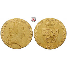 Grossbritannien, George III., Guinea 1791, 7,66 g fein, ss+