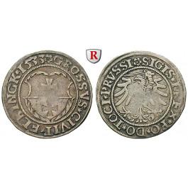 Elbing, Stadt, Sigismund I., Groschen 1533, ss