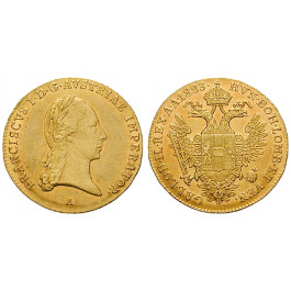 Österreich, Kaiserreich, Franz II. (I.), Dukat 1823, ss-vz/vz