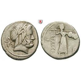 Römische Republik, L. Procilius, Denar, ss