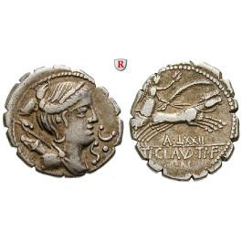 Römische Republik, Ti. Claudius Nero, Denar, serratus 79 v.Chr., ss