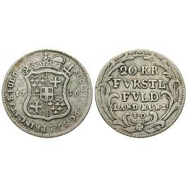 Fulda, Bistum, Adolph von Dalberg, 20 Kreuzer 1736, ss