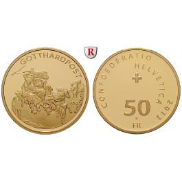 Schweiz, Eidgenossenschaft, 50 Franken 2013, 10,16 g fein, PP