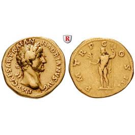 Römische Kaiserzeit, Hadrianus, Aureus 119-125, ss